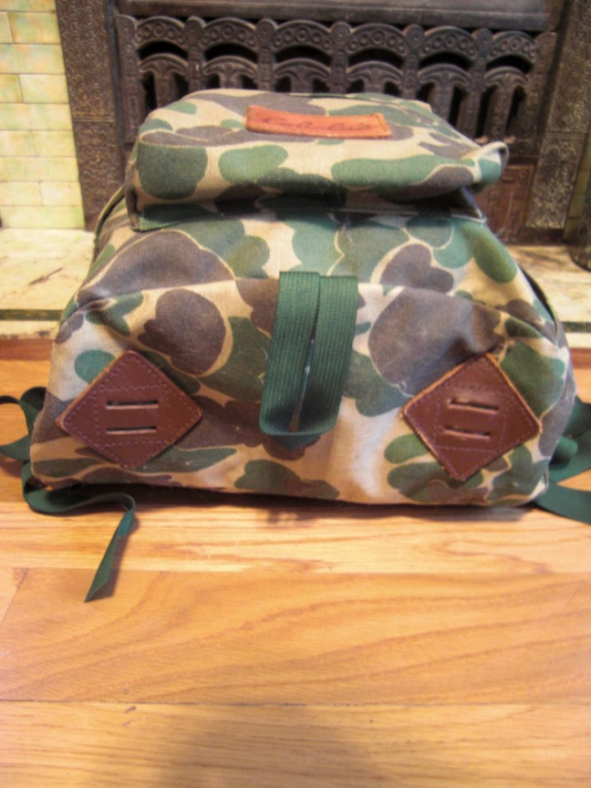 Vintage Cabela's Day Pack duck camo