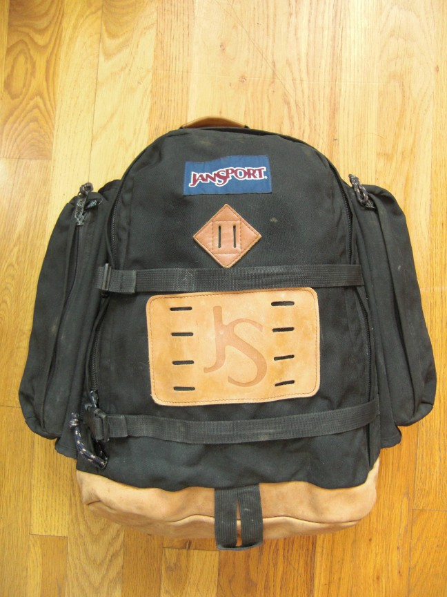 JanSport Leather Bottom Large Day Pack