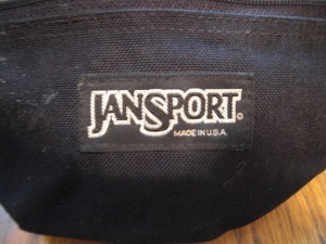 JanSport USA Leather Top Waist Pack Hip Bag