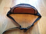 JanSport USA Leather Top Waist Pack Hip Bag
