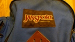 JanSport Leather Bottom Day Pack Backpack - Made in the USA - Vintage - Blue