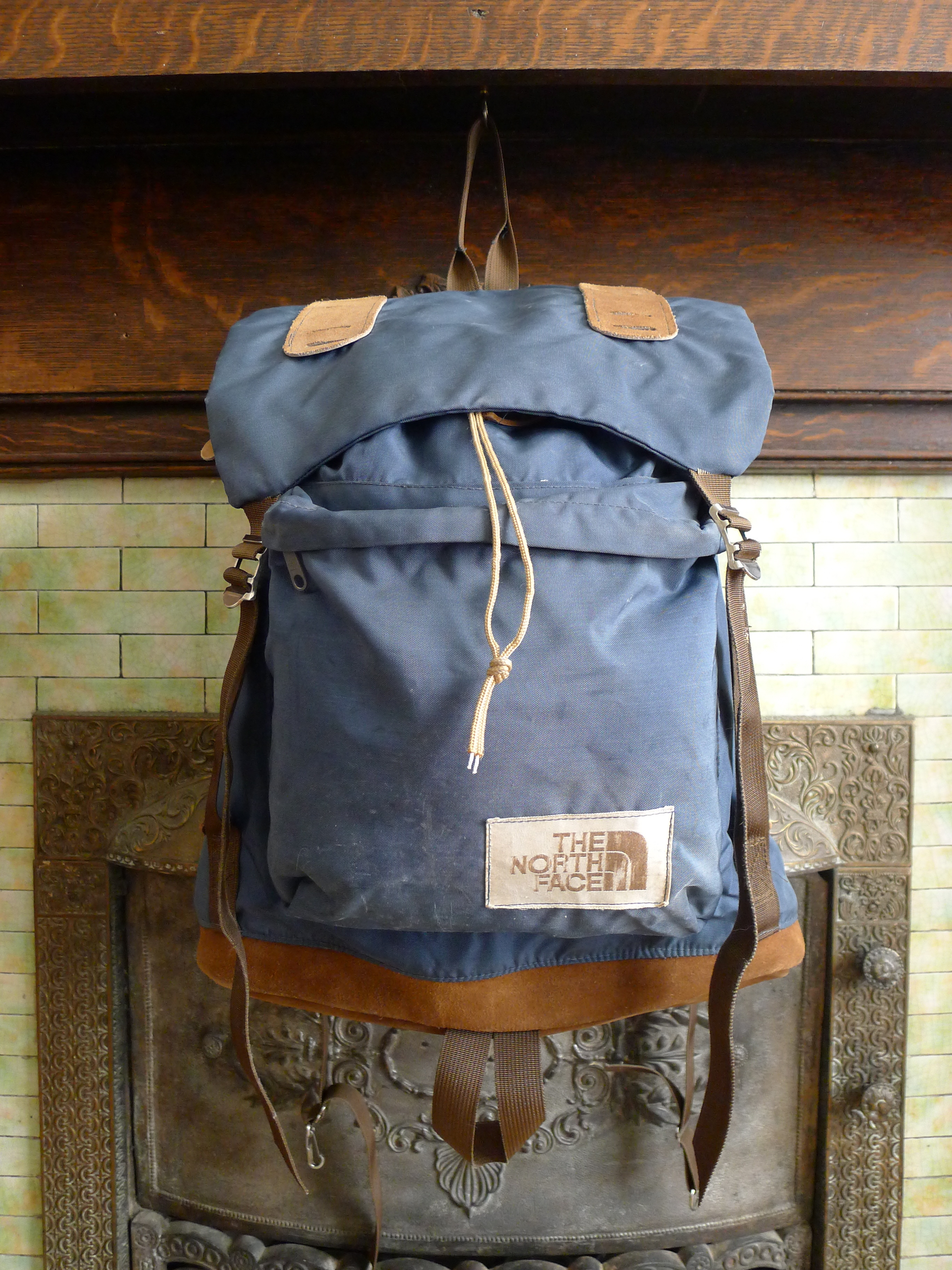 The North Face Leather Bottom Rucksack Backpack – Brown Label Made in the  USA