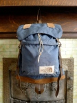 The North Face Leather Bottom Rucksack Backpack - Brown Label Made in the USA