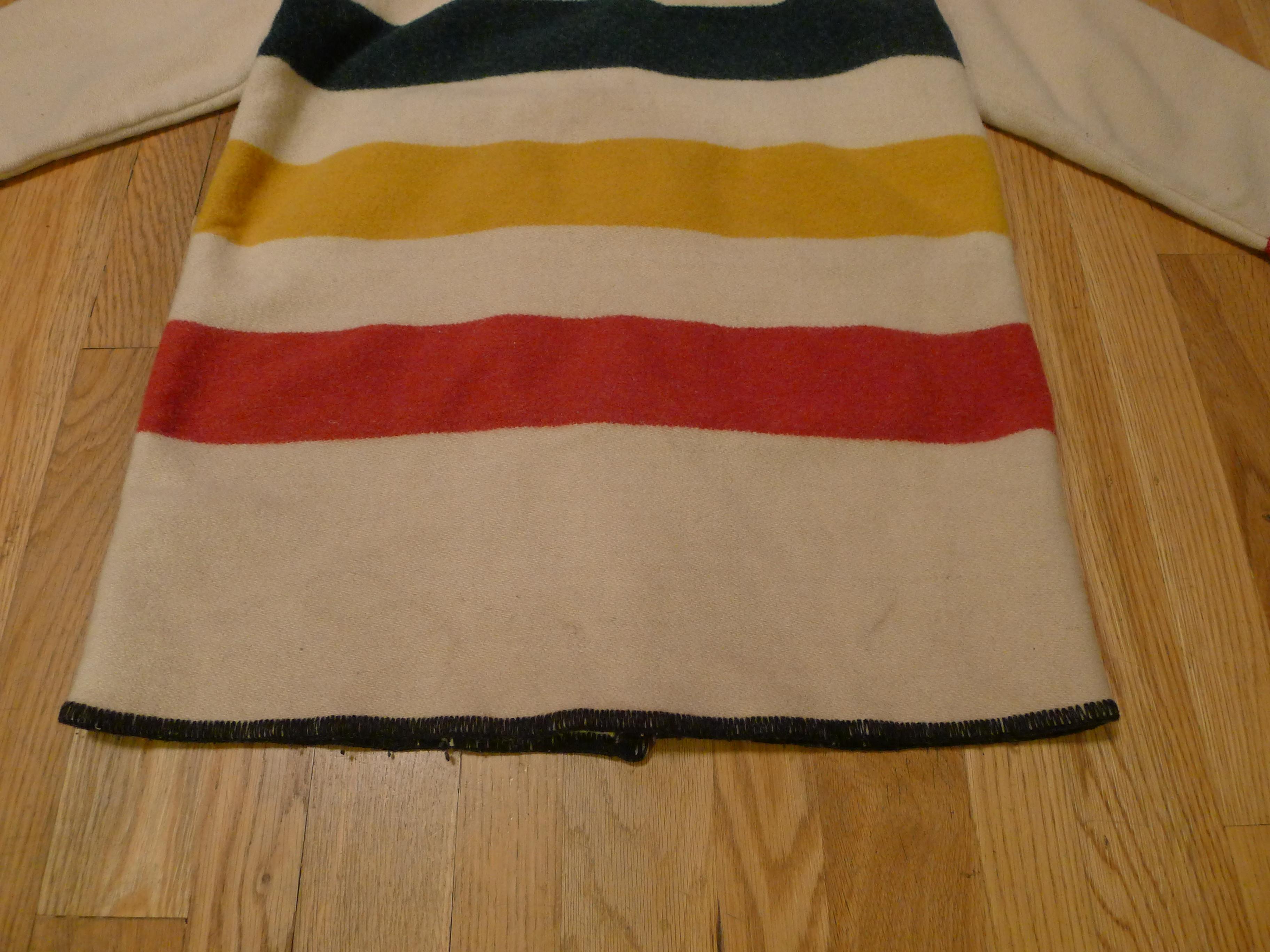 Woolrich Striped Hudson Bay Blanket Jacket Basecamp