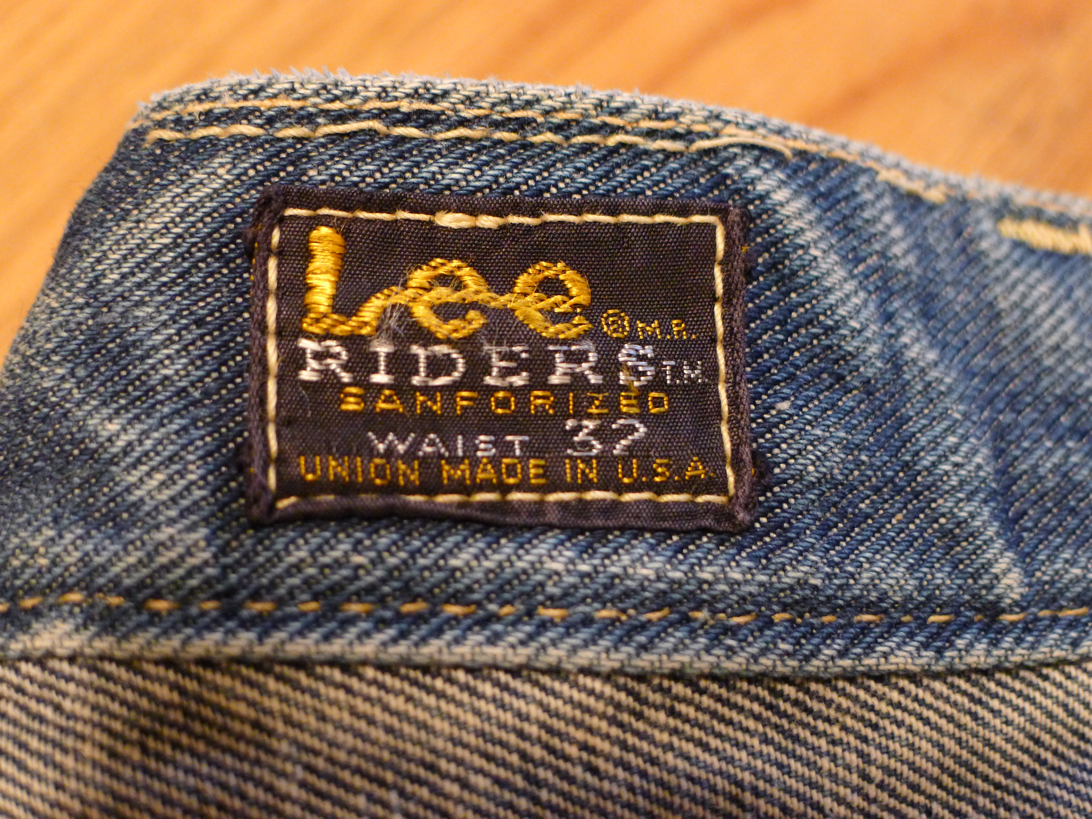 29cec79c Lee Riders Sanforized, Union Made Selvedge Denim