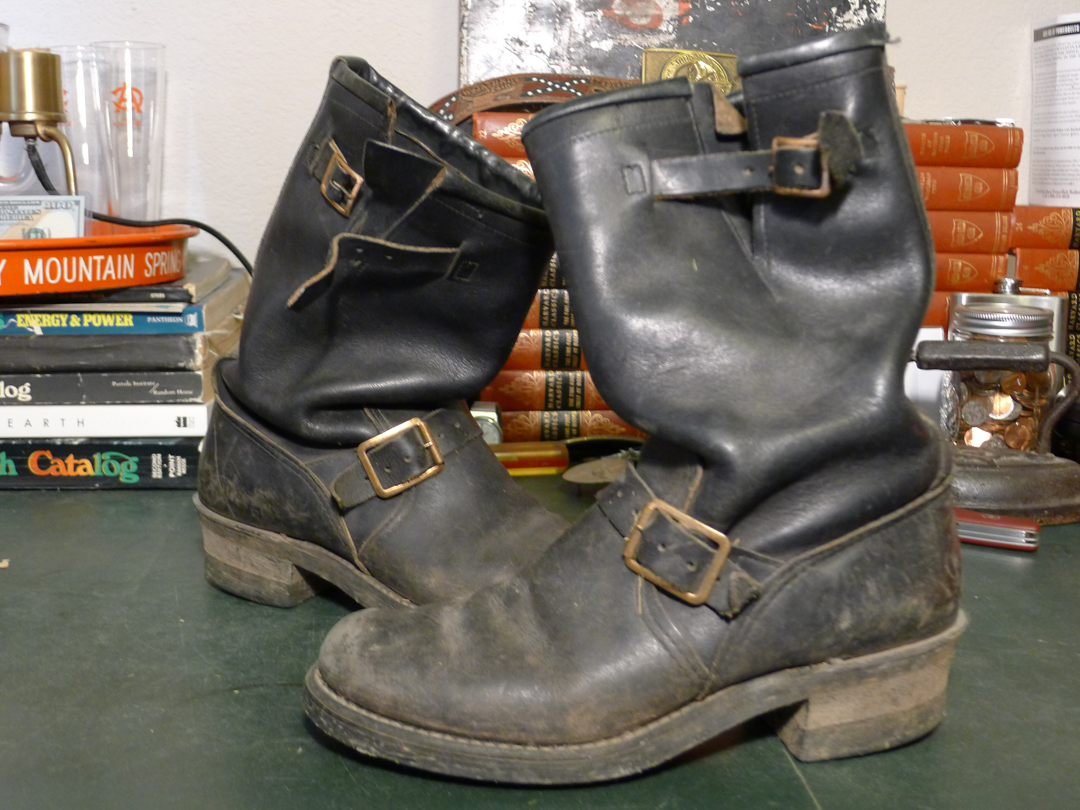Unknown Engineer Boots – Cord Soles, Brass Buckels – USA Made ...