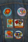 Vintage Levi's Type III Big E Trucker Jacket with Albuquerque Internationall Balloon Fiesta patches