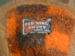 "Vintage Red Wing 04130 Black Label Flannel lined 9"" hunting boots"