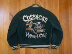 "VINTAGE 1950'S ""COSSACKS"" CAR CLUB HOT ROD WOOL JACKET - GOLDEN BEAR M/L"