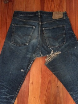 vintage levis 501 Big E repair