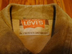Vintage 60'S Levis Leather Type 3 Jacket - Big E- suede rough out
