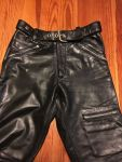 Vintage 1960'S Motorcycle Black Leather Pants