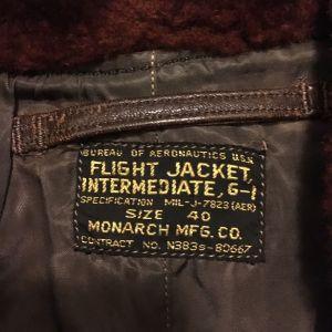 Vintage 1950s Monarch USN G1 Flight Jacket