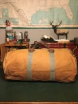 Vintage BEAN LL Bean Canvas and Leather Duffle Bag
