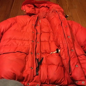 Vintage REI expedition down jacket.