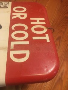 Vintage Dr. Pepper Painted Thermometer Sign