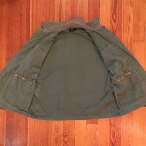 LL Bean Gold & Black Cursive Label Upland Hunting Field Jacket