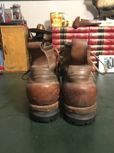 10th Mountain Division Lugged Leather Ski Boots - 1943