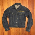 Vintage Embroidered Lee 101-J 40s 50s Red Label Rodeo Denim Jacket Size 36