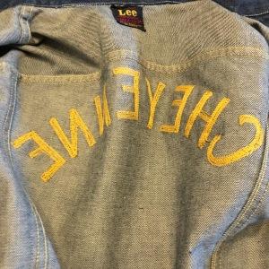 Vintage Embroidered Lee 101-J 40s 50s Red Label Rodeo Denim Jacket Size 36