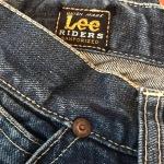 Vintage 1950s Lee Riders Half Selvedge Denim Jeans