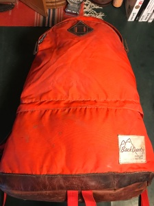 Vintage Back Country Buena Park California Tear Drop Backpack